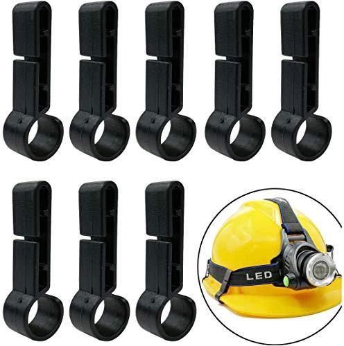 GuangTouL Stirnlampen Clips, 8 Stück Schutzhelm kopflampe Clip, alle Geeignet Baustellenhelm und Kopflamp