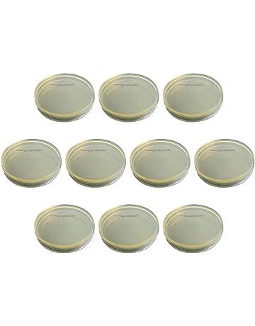 luosh 10 Pezzi Petri Dish in plastica per progetti scientifici scolastici e lievito batterico LB Plate 90 x 15mm