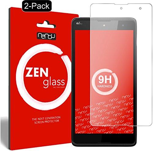 ZenGlass [2 Stück Flexible Glas-Folie kompatibel mit Wiko Robby Panzerfolie I Bildschirm-Schutzfolie 9H