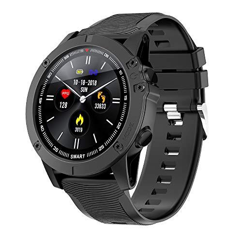 BYTTRON Bluetooth Smartwatch, Reloj Inteligente Pantalla táctil Completa IP68 Rastreador de Ejercicios a Prueba de Agua con GPS Sports Record Heart Rate Sleep Tracker para iOS Android