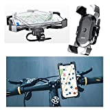 DFV mobile - Phone Holder Support for Bicycle and Motorcycle Handlebars Automatic and Swivel 360 for Vodafone Smart Mini 7 - Black