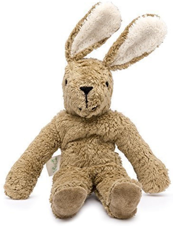 Senger Stuffed Animals  Bunny  Handmade 100% Organic Toy (White Beige  12 Inches Tall)