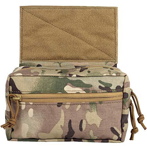 DETECH Tactical Dump Drop Pouch Werkzeugtasche mit Klettverschluss für JPC CPC AVS Weste Airsoft Hunting Skirmish Outdoor Sports