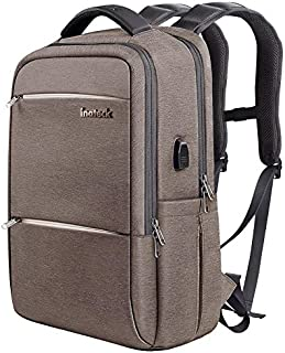 Large-capacity Backpack Laptop Business Bag Men And Women Backpack Casual Students Rucksack School Sports Travel Bag (Color : Khaki, Size : 32x17x47cm)