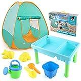 Ablerfly Casa de Juguetes de Juegos para niños, Interior y al Aire Libre Portátil Portátil Play Tent, Playa Juguete Puzzle Juego DIY Set