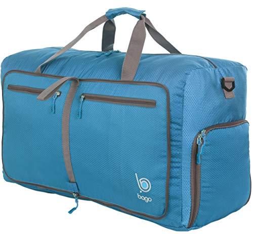 Bago 80L Duffle Bag for Women & Men - 27' Travel Bag Large Foldable Duffel bag - Holiday Travel Gift (Blue)