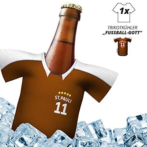 Herren Trikot 2019/20 kühler Home für St. Pauli-Fans | FUßBALL-Gott | 1x Trikot | Fußball Fanartikel Jersey Bierkühler by Ligakakao