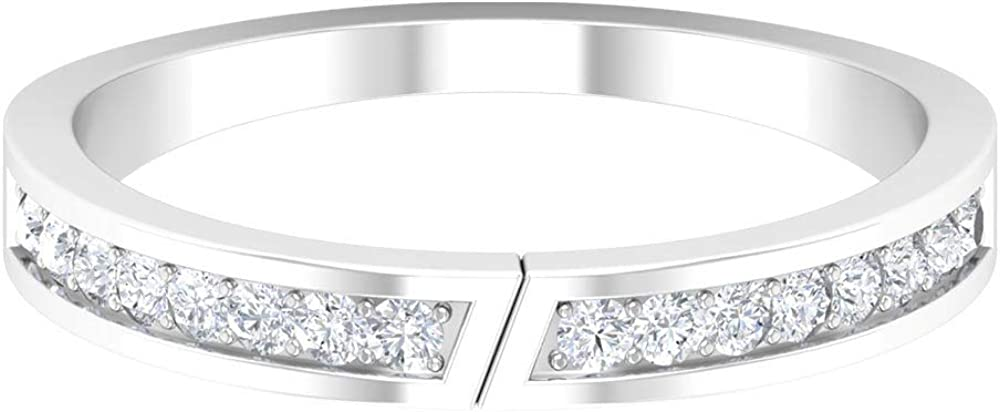 Gold Band Ring, Modern Ring, Stackable Rings For Women,14K White Gold