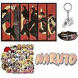 Elibeauty Naruto Geschenkset 50 Aufkleber + 1
