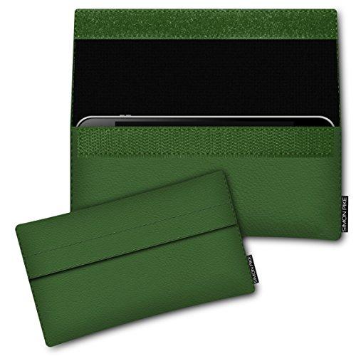 SIMON PIKE Hülle Tasche kompatibel mit Samsung Galaxy S8 Active | Schutztasche Newyork in 01 Gruen aus Kunstleder Handyhülle