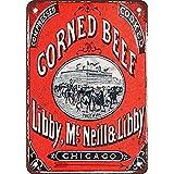 BIFULLIS Libby Corned Beef ブリキブリキ 看板レトロ デザイン壁飾り絵 30x40cm
