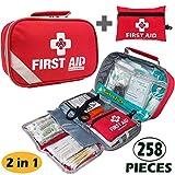 General Medi 2-in-1 First Aid Kit (215 Piece) + Bonus 43 Piece Mini...