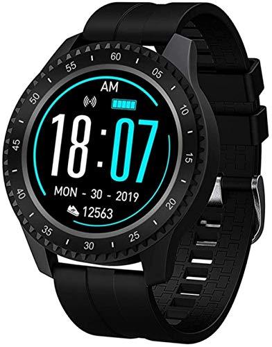 JSL Reloj inteligente impermeable de los hombres s de 1,54 pulgadas de pantalla táctil reloj inteligente de frecuencia cardíaca de monitoreo de la presión arterial modo deportivo de calorías podómetro