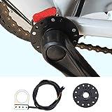 Dioche Sensor de Pedal, 12 Imanes 12 Pulsos por Revolución Sensor de Velocidad del Sensor Asistente para Bicicleta Eléctrica Pedal de Bicicleta