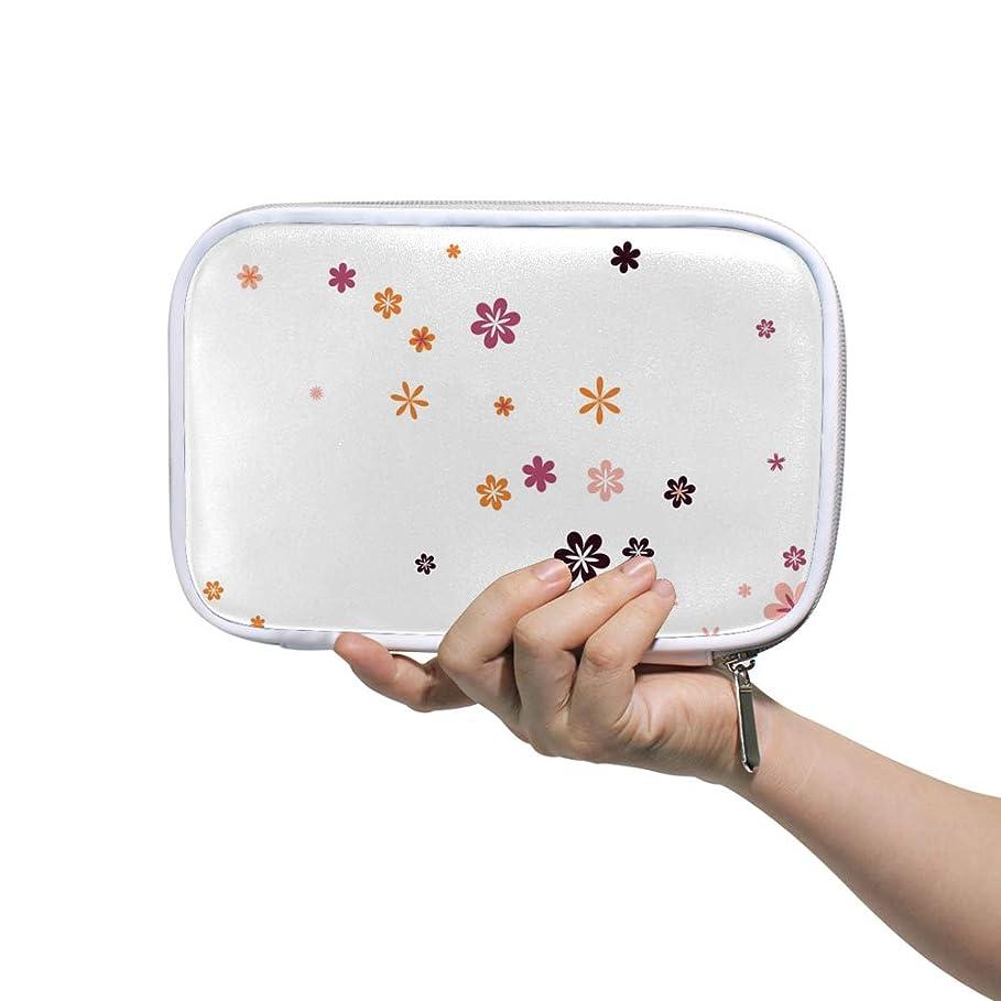 中断生む困惑ZHIMI 化粧ポーチ メイクポーチ レディース コンパクト 化粧品収納バッグ 防水 柔らかい おしゃれ コスメケース 綺麗 花柄 機能的 軽量 小物入れ 出張 海外旅行グッズ パスポートケースとしても適用