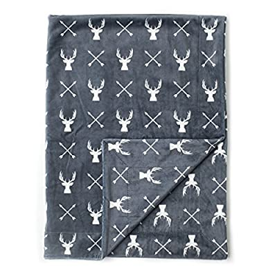 "Kids N' Such Minky Baby Blanket 30"" x 40"" - Deer - Soft Swaddle Blanket for Newborns and Toddlers - Best for Boy or Girl Crib Bedding, Nursery, and Security - Plush Double Layer Fleece Fabric"