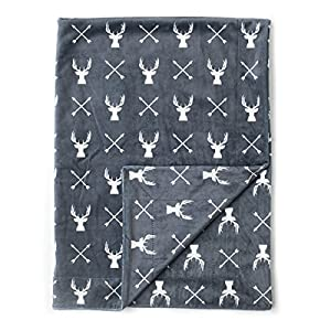 Kids N' Such Minky Baby Blanket 30″ x 40″ – Deer – Soft Swaddle Blanket for Newborns and Toddlers – Best for Boy or Girl Crib Bedding, Nursery, and Security – Plush Double Layer Fleece Fabric