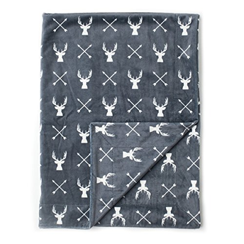 Kids N#039 Such Minky Baby Blanket 30quot x 40quot  Deer  Soft Swaddle Blanket for Newborns and Toddlers  Best for Boy or Girl Crib Bedding Nursery and Security  Plush Double Layer Fleece Fabric