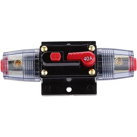 RKURCK 12V-24V 150A Auto Disjoncteur /étanche Amp/ères Commutateur De R/éarmement Manuel En Ligne pour la protection des syst/èmes dinverseur de batterie solaire de voiture 150 Amps