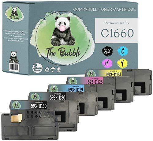 The Bubbli Original | Compatible Toner for DELL C1660 C1660w C1660dw C1660cn C1660cnw (Pack of 5)