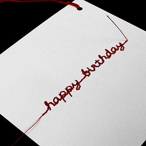 マルアイメッセージカード刺繍カード誕生日ホワイトGF-カHBW