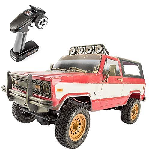 LuoKe LuoKe Elektrischer RC Pickup Modell 1:12 2.4G RTR TTRC Sport PUBG Buggy 4x4 Amerikanisches Fahrzeugmodell Spielzeug Geschenk für Kinder Erwachsene