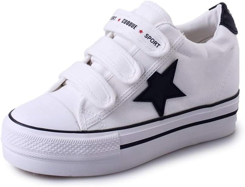 Super explosion Women Platform Canvas Sneakers Casual shoes Hook&Loop Comfortable Footwear for Girls Walking