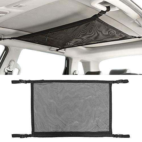 DODUOS Auto Gepäcknetz Mesh Aufbewahrungstasche Autodach Aufbewahrungstasche Universelles Decken-Frachtnetz Einstellbar Kleinigkeiten Frachtnetz Tasche für die Meisten Fahrzeugtypen