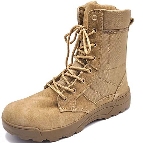 Kampfpatrouillenstiefel Militärische Schnürschuhe Taktischer Wanderschuh Outdoor-Kletterschuh Leichte, Bequeme Schuhe Atmungsaktive High-Tops-Schuhe,Sand,42