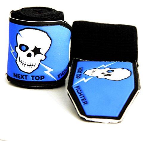 BAY Skull Face 3D KIDS JUNIOR basic 1,5 m Boxbandagen SPEZIELL FÜR KINDER SCHWARZ 1,5 Meter x 5 cm, 150 cm Box-Bandagen, Paar Tapes Faustbandagen Handbandagen für