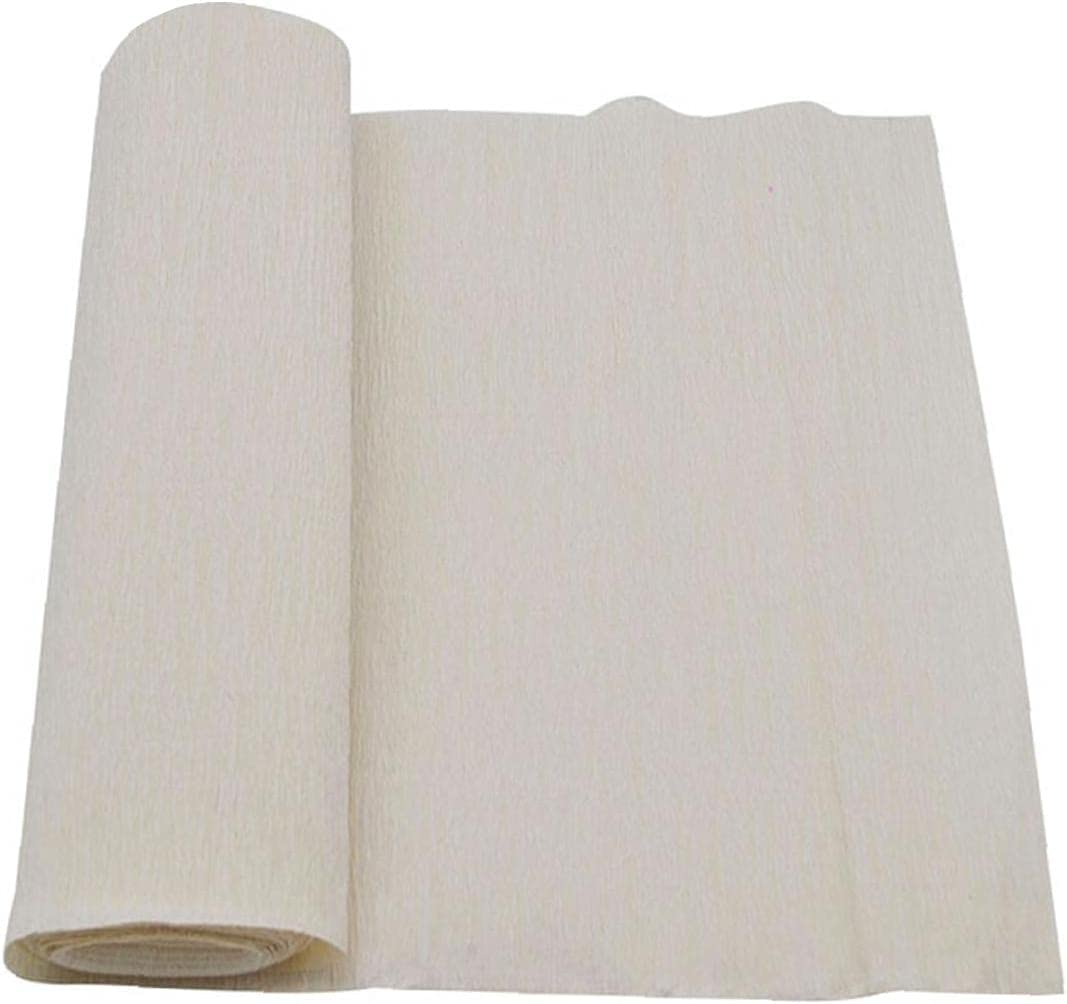 NIDONE Floral Crepe Paper Wrapping DIY Chr Artwork Bouquet Boston Mall Boston Mall White