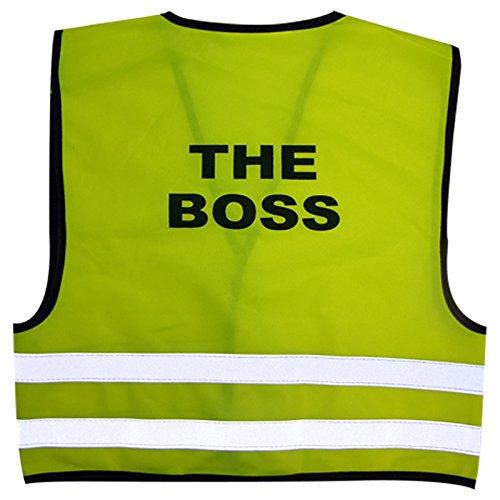 Kinderen Hoge Zichtbaarheid Hi Viz Veiligheid Vest Top Hi Vis Baby Waistcoat Kinderen Gift MEDIUM (1-2 YEARS) The Boss