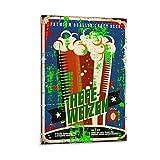ERTYG - Poster di birra Hefeweizen, stampa artistica su tela e stampa artistica da parete, 60 x 90 cm