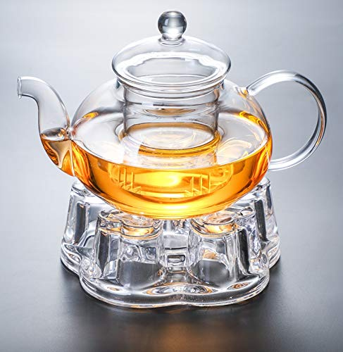 IwaiLoft 癒し 耐熱ガラス ティーポット 茶こし付き ガラス 急...