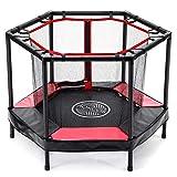 AOKCOS Mini trampoline pour enfants de 122001PR avec filet de sécurité et coussin de sécurité – Petit trampoline pour sauter en...