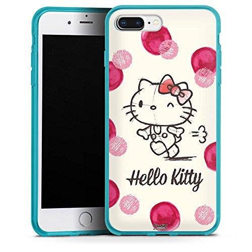 DeinDesign Silikon Hülle kompatibel mit Apple iPhone 8 Plus Hülle Schutzhülle Hello Kitty Fanartikel Merchandise Fan Article Merchandise