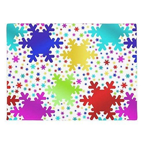 ZXL Glanzende Rubber Kleurrijke muismat voor Shiny Snowflake voor antislip vloerbedekking Machine wasbaar tapijt met interieur 60 x 40 cm