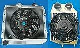 Radiador de aluminio + interenfriador para Re-nault Super 5 R5 9/11 GT Turbo 1.4L B/C37 B/C40 L42 MT 1981-1991 5 pulgadas lateral o con ventiladores (ventiladores interenfriadores radiadores)