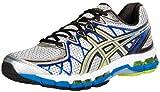 ASICS Men's Gel Kayano 20 Running Shoe,Lightning/Silver/Royal,7.5 M US