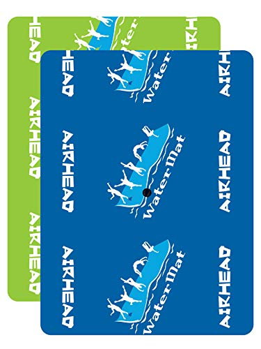 """Airhead WATERMAT MAX RAFT, 8' x 6' x 3.75"""", Green / Blue"""