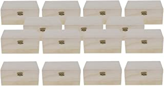 IPOTCH 15pcs Wooden Unpainted Unfinished Box Storage Case for Beads/Jewelry/Gifts