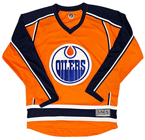 Edmonton Oilers Orange Blank Men's 2 Stripe Team Apparel Jersey (Large/X-Large)
