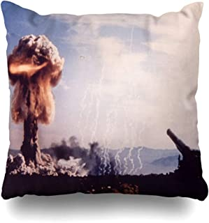 Ahawoso Throw Pillow Cover Atmospheric Grable Shot 280 Mm Artillery Gun 280Mm to Fire 15 Kiloton Nuclear Shell 12 Officers were Decorative Zipper Cushion Case Square 16