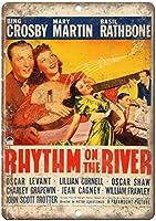 The River Movie Bing Crosbyのリズム メタルポスター壁画ショップ看板ショップ看板表示板金属板ブリキ看板情報防水装飾レストラン日本食料品店カフェ旅行用品誕生日新年クリスマスパーティーギフト