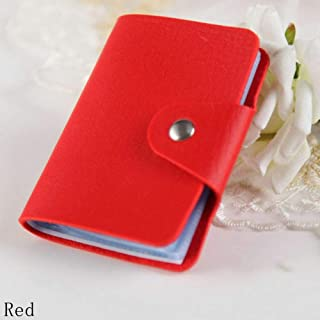 New Protector Wallet Organizer PU Leather Cute Card Holder 24 Slots red