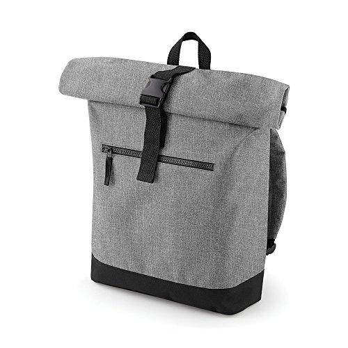 Bagbase Roll-Top Rucksack (12 Liter) (Einheitsgröße) (Grau meliert)