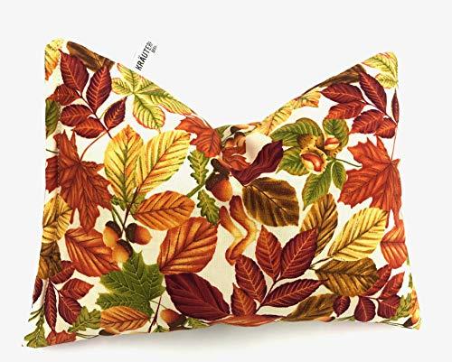 Kräuterkissen gefüllt mit Heilkräutern ca.25x20 cm.Design/ bunte Blätter Nr. 154