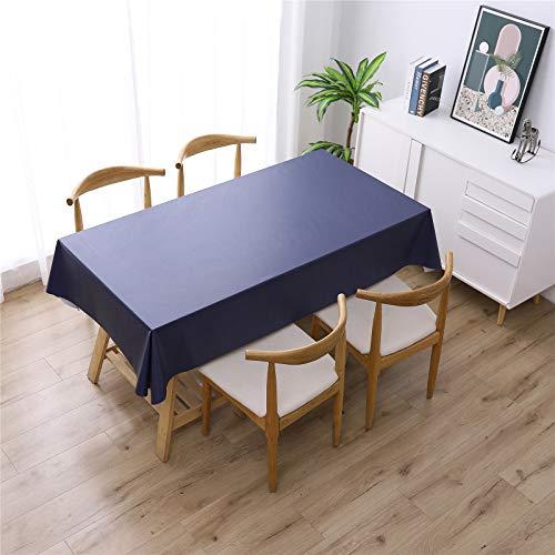 XDKS Mantel rectangular de poliéster resistente al agua, cubierta de mesa suave para cocina, comedor, mesa de picnic al aire libre (80 x 120 cm), azul marino