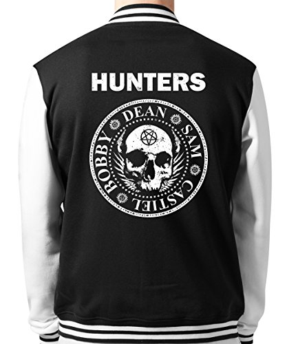 clothinx - Hunters - Unisex College Jacke Schwarz, Größe XL