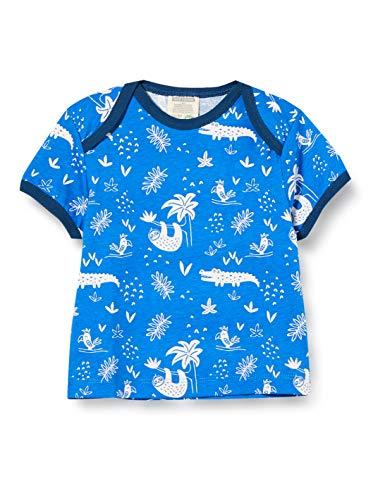 loud + proud Jungen Allover Print Organic Cotton T-Shirt, Blau (Cobalt cob), (Herstellergröße:98/104)